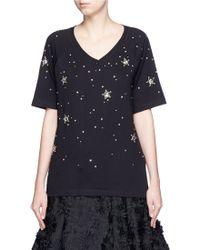 Markus Lupfer | 'constellation Stars' Embellished Skye T-shirt | Lyst