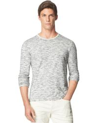 Calvin Klein Jeans Heathered Long Sleeve Tee - Lyst