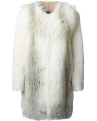 Blancha White Classic Coat - Lyst