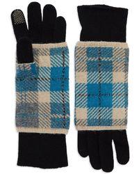 Portolano Plaid Layered Gloves black - Lyst