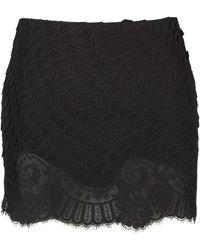 Vanessa Bruno Scalloped Lace Skirt - Lyst
