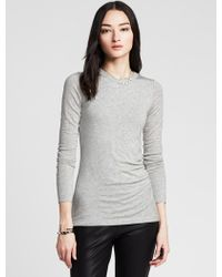 Banana Republic Gray Ruched Tee - Lyst