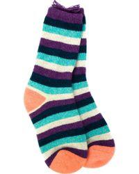 The Elder Statesman - Striped Socks - Lyst