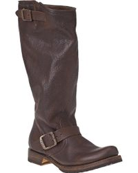 Frye | Veronica Slouch Brown Leather | Lyst