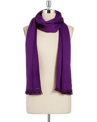 Calvin Klein Colorblocked Knit Scarf - Lyst