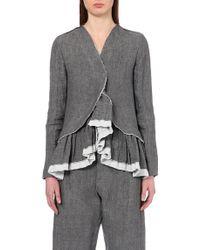 Marni Ruffled Linen-Blend Jacket - For Women - Lyst