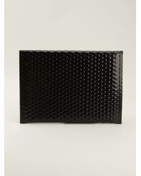 Mm6 By Maison Martin Margiela Bubble Wrap Texture Clutch - Lyst