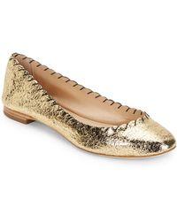 Loeffler Randall Scalloped Leather Ballet Flats - Lyst