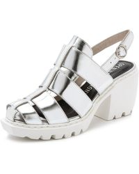 Opening Ceremony Grunge Fisherman Sandals - Silver - Lyst
