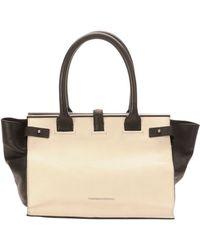 CoSTUME NATIONAL - Parigi Two-Tone Framed Shopper Tote Bag - Lyst