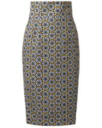 Stella Jean Agnese Tribalprint Pencil Skirt - Lyst