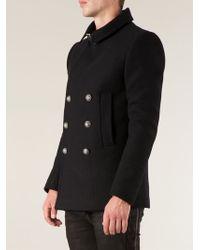 Balmain Classic Coat - Lyst