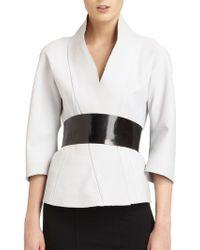 Donna Karan New York Belted Kimono Jacket - Lyst