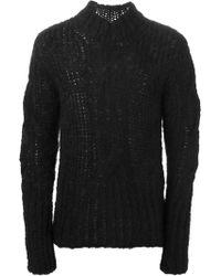 Ann Demeulemeester Cable Knit Sweater - Lyst