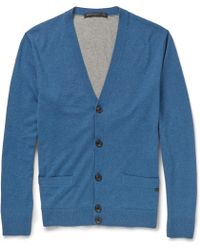 Marc By Marc Jacobs Colour-Block Silk, Cashmere And Cotton-Blend Cardigan - Lyst