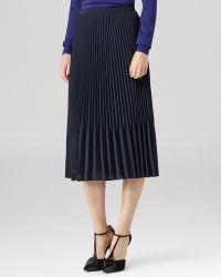 Reiss Skirt Baltimore Pleated Midi - Lyst