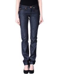 Acne Studios Denim Trousers - Lyst