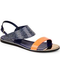 Nicholas Kirkwood Leda Flat Sandals - For Women blue - Lyst