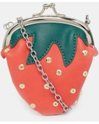 Asos Strawberry Coin Purse With Chain red - Lyst