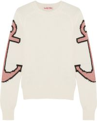 See By Chloé Anchor Intarsia Stretch-Cotton Sweater - Lyst