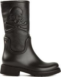 Philipp Plein Black Mord Boots - Lyst