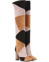 Gianvito Rossi   Patchwork Suede Over-the-knee Boots   Lyst