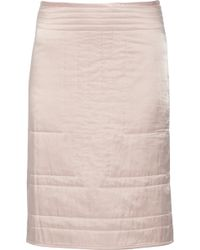 Etoile Isabel Marant Lashay Quilted Cotton And Silk-Blend Skirt - Lyst