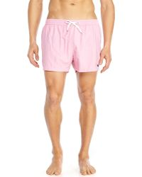 Moschino Pink Embroidered Swim Trunks - Lyst