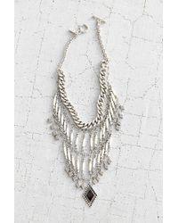 Vanessa Mooney Midnight Silver Statement Necklace - Lyst