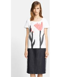 Marni Tulip Print Short Sleeve Tee - Lyst