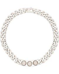 Balenciaga Classic Silver 3 Studs Necklace - Lyst