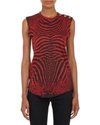Balmain Multiprint Button Top - Lyst