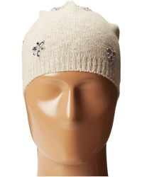 Betsey Johnson Bling Beanie Hat - Lyst