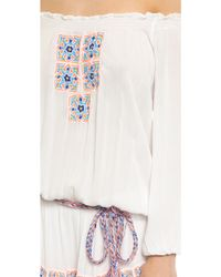 Pia Pauro - Off Shoulder Beach Dress - White - Lyst
