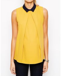 Asos Maternity Exclusive Swing Top With Contrast Collar - Lyst