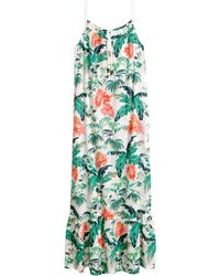 H&M Sleeveless Maxi Dress green - Lyst