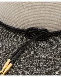 Eugenia Kim Black and White Honey Boucle Sunhat - Lyst