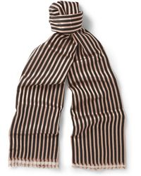 Haider Ackermann Double-Layered Wool And Silk-Blend Scarf - Lyst