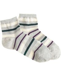 J.Crew Stripe Ankle Socks - Lyst