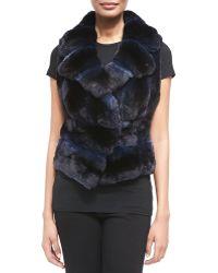 J. Mendel Notch Collar Chinchilla Fur Vest - Lyst