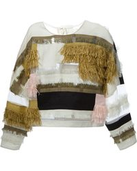 3.1 Phillip Lim Fringed Top - Lyst