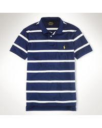 Polo Ralph Lauren Performance Striped Mesh Polo - Lyst