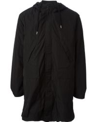 Our Legacy Snap Button And Zip Fastening Hooded Parka - Lyst