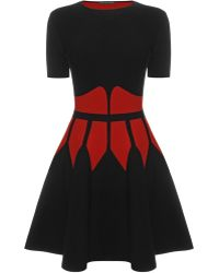 Alexander McQueen Contrast Corset Knit 12 Circle Mini Dress - Lyst