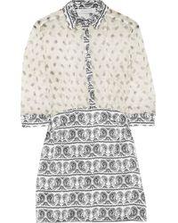Balmain Printed Silk Dress - Lyst