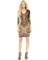 Just Cavalli Gypsy Knife Print Dress  Black - Lyst