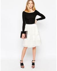 d.RA - Tarth Skirt - White Slush - Lyst