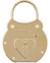 Charlotte Olympia Padlock Perspex Clutch Gold - Lyst
