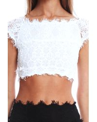 Nightcap Florence Lace Top White - Lyst