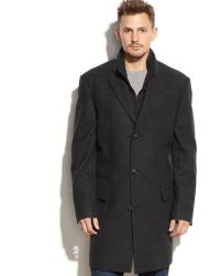 Calvin Klein Single-breasted Wool-blend Twill Over Coat - Lyst